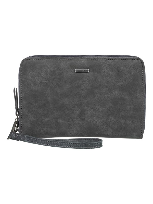0 Summer Escape Zip-Around Wallet Black ERJAA03549 Roxy