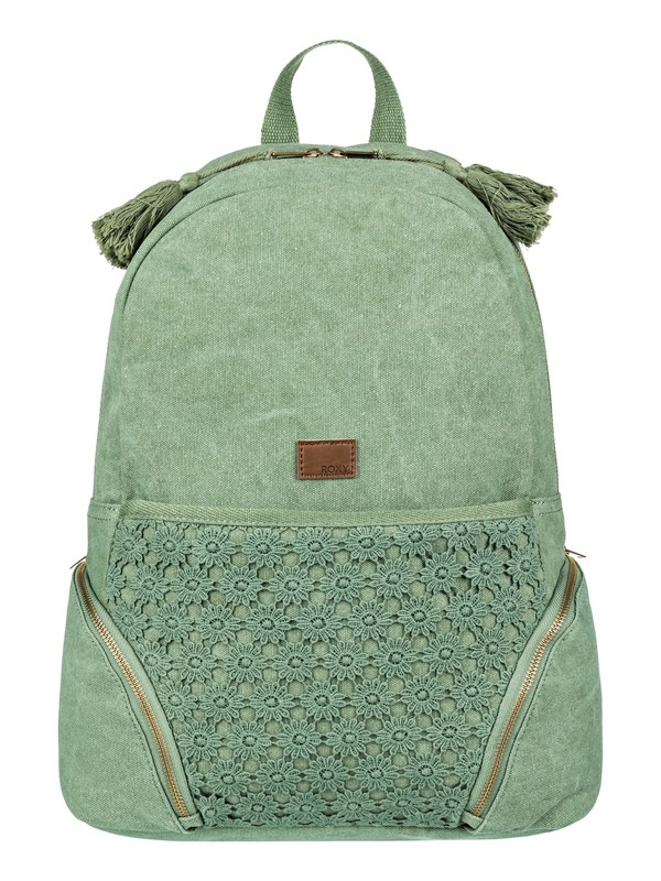 0 Bombora  Medium Backpack Green ERJBP03647 Roxy