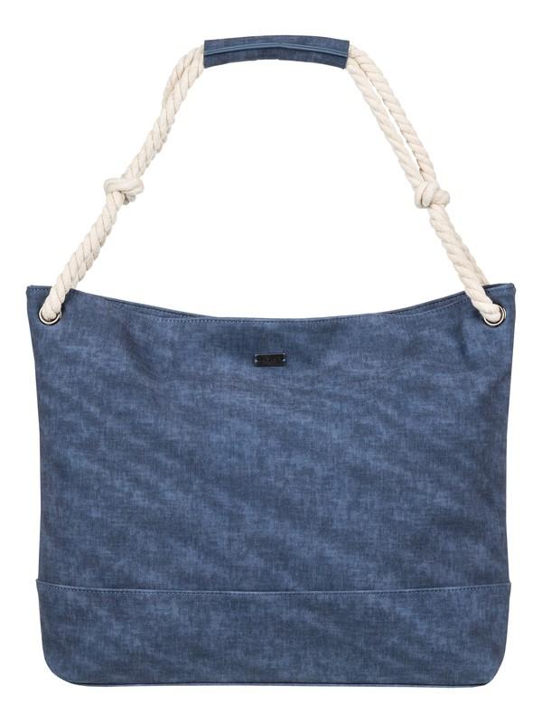0 Famous Street - Bolsa con Asas de Cuero Sintético Azul ERJBP03657 Roxy