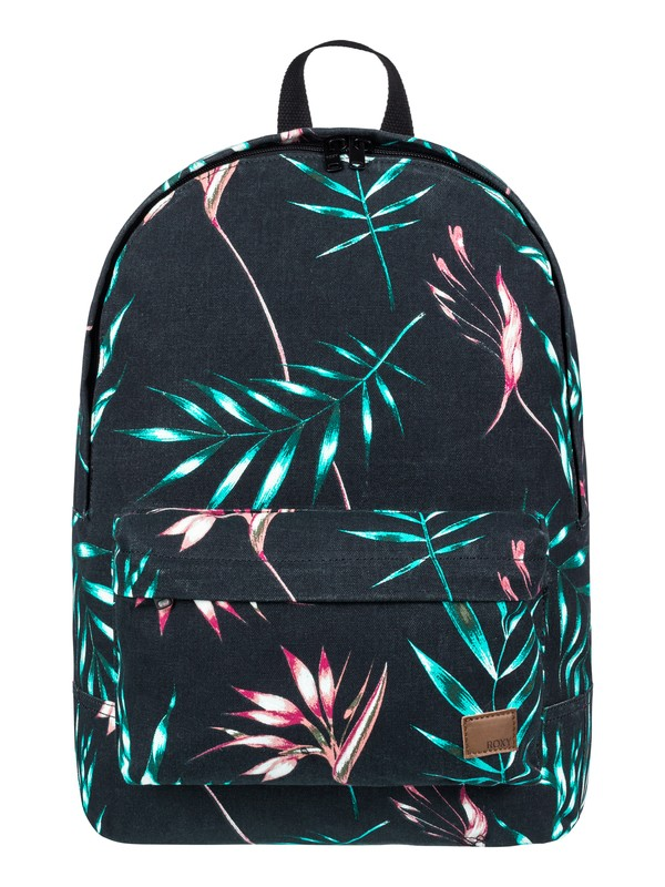 0 Sugar Baby Canvas Colorblock 16 L Medium Backpack Black ERJBP03693 Roxy