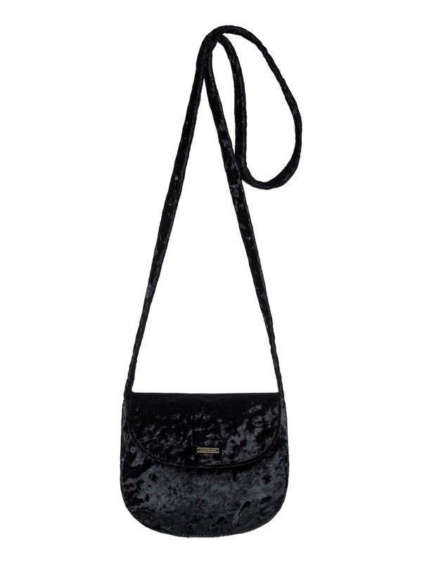 0 Like A Love Song Small Velvet Shoulder Bag Black ERJBP03794 Roxy