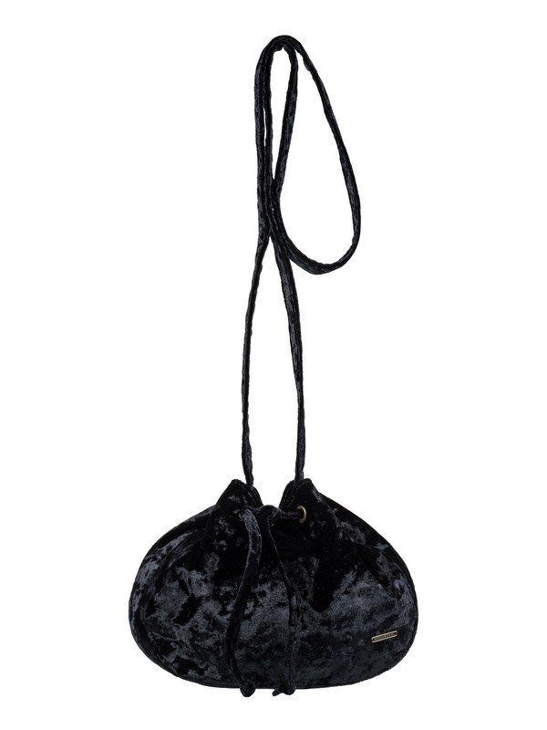 0 Spread Love Small Velvet Shoulder Bag Black ERJBP03796 Roxy