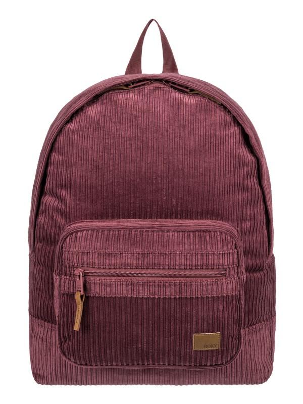 0 Morning Light 16L Small Velvet Corduroy Backpack Red ERJBP03818 Roxy