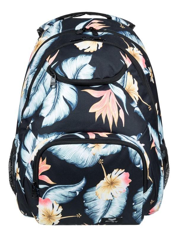 0 Shadow Swell 24L Medium Backpack Black ERJBP03845 Roxy