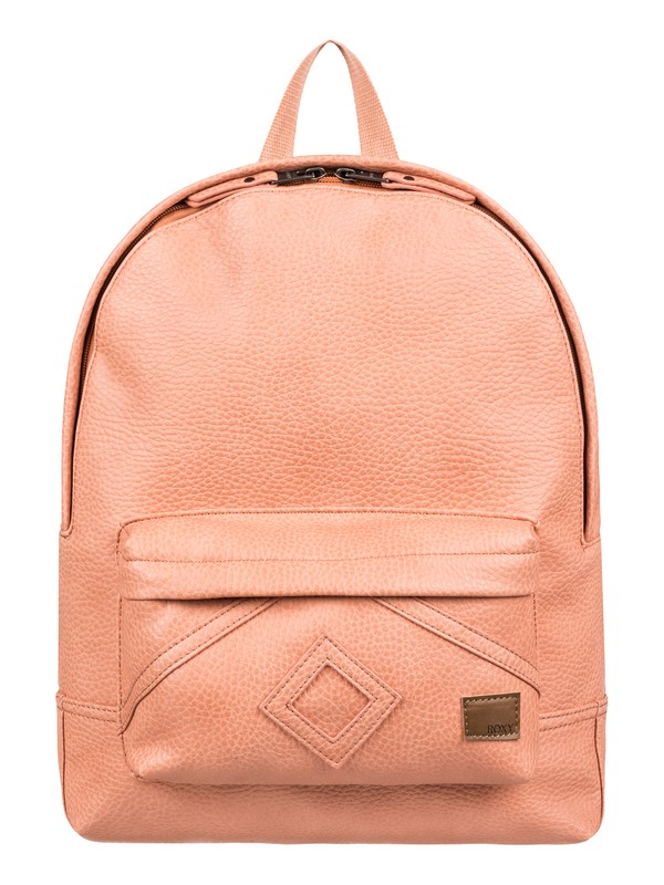 0 Wild Air 10L Small Faux Leather Backpack Pink ERJBP03849 Roxy