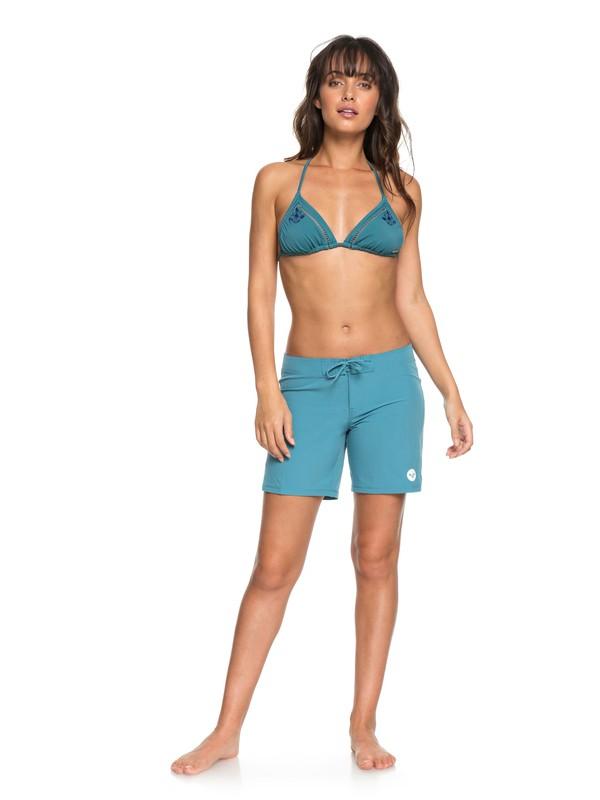 """0 To Dye 7"""" Boardshorts Blue ERJBS03039 Roxy"""