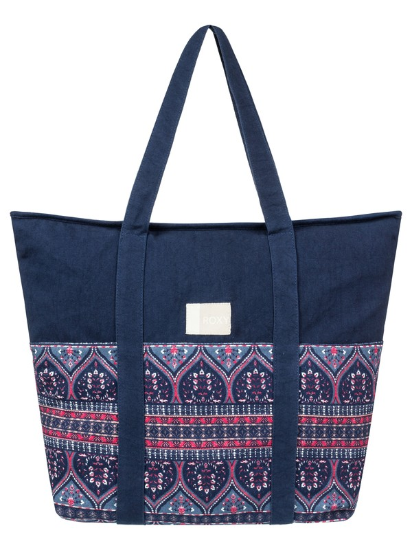 0 Folk Singer  Beach Tote Bag Blue ERJBT03089 Roxy