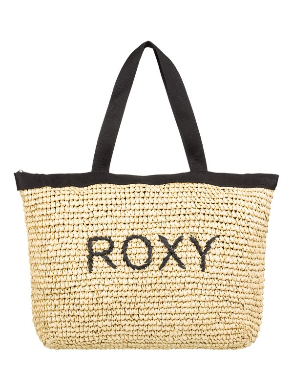 0 Heard That Sound Straw Tote Bag Black ERJBT03126 Roxy