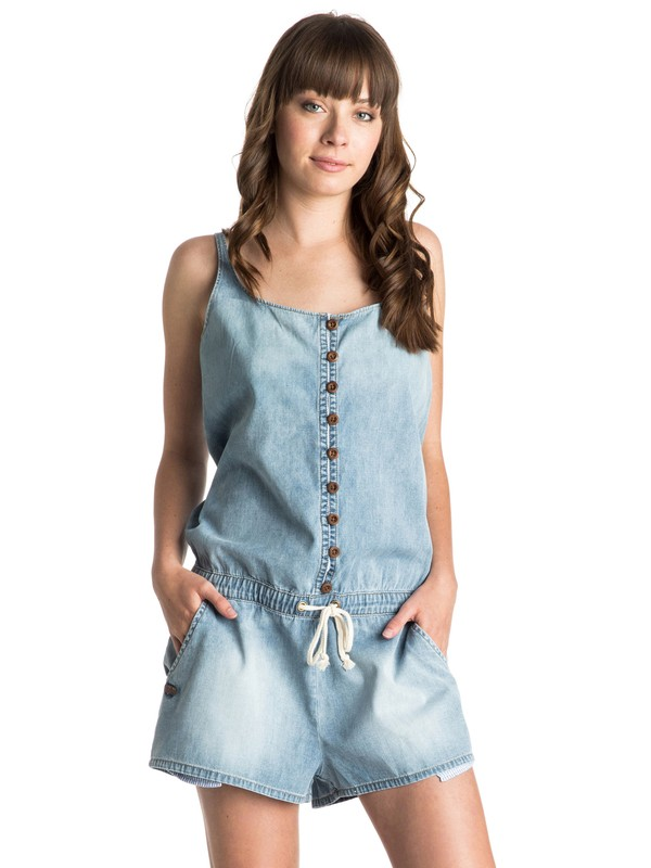 0 Sea Queen Denim Romper  ERJDD03000 Roxy