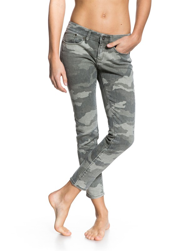 0 Suntrippers Crop Camo Jeans  ERJDP03013 Roxy