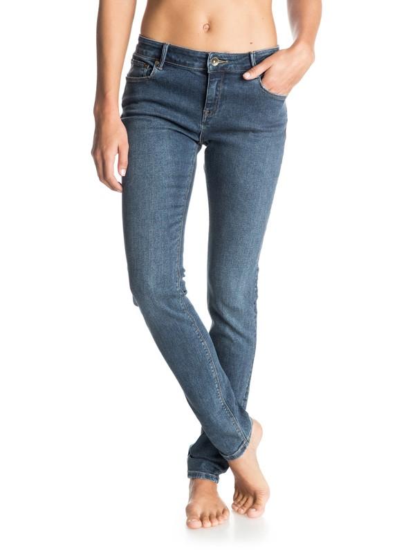 0 Suntrippers Dark Blue Mid Rise Jeans  ERJDP03086 Roxy