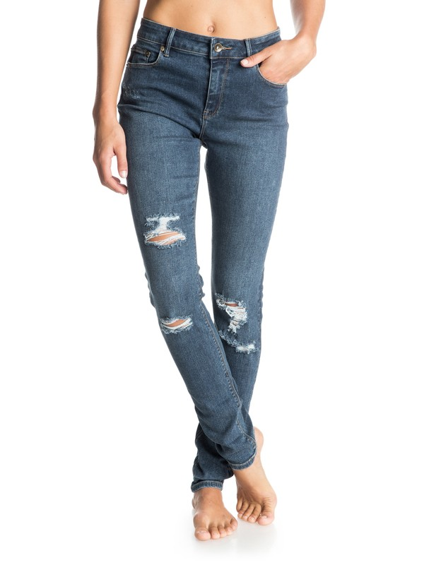 0 Suntrippers Distressed Skinny Jeans  ERJDP03087 Roxy