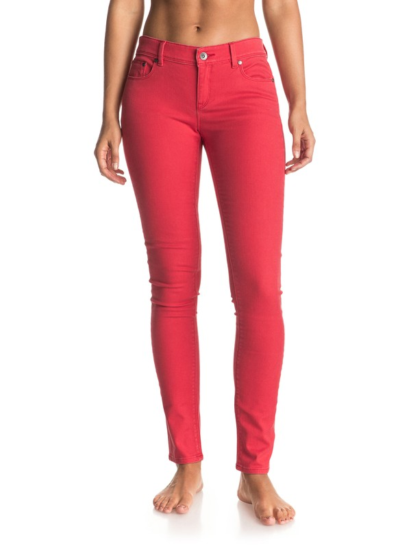 0 Suntrippers Color - Skinny Jeans Red ERJDP03142 Roxy