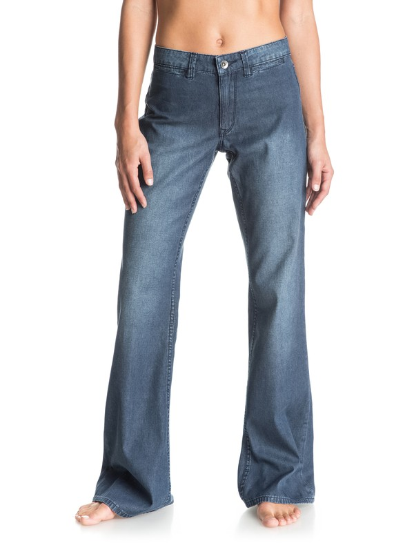 0 Bell Bottom Blue Flared Jeans  ERJDP03145 Roxy