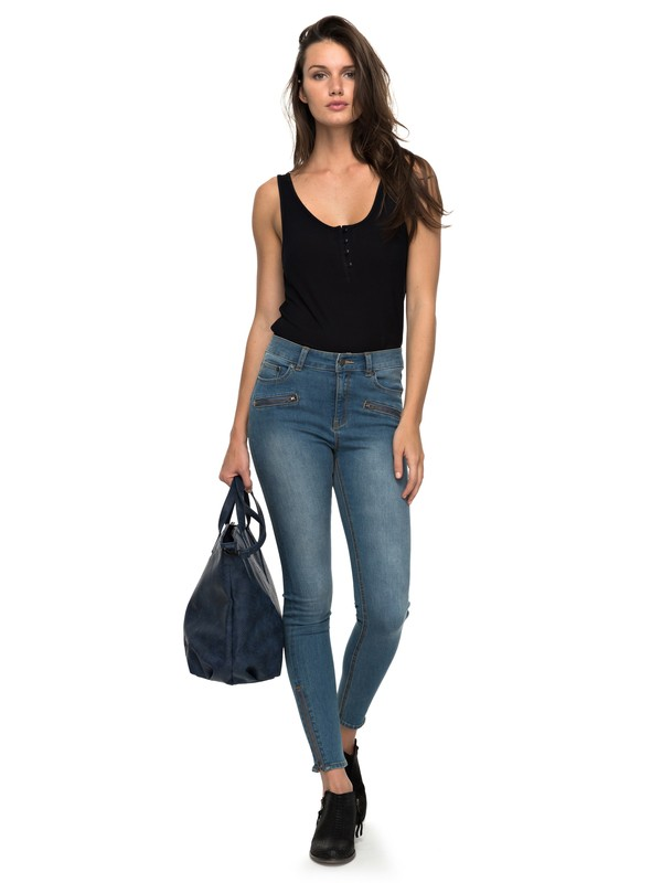 0 Night Spirit A - High Waisted Skinny Fit Jeans for Women Blue ERJDP03162 Roxy