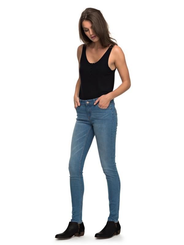 0 Suntrippers C - Skinny Fit Jeans Blau ERJDP03163 Roxy