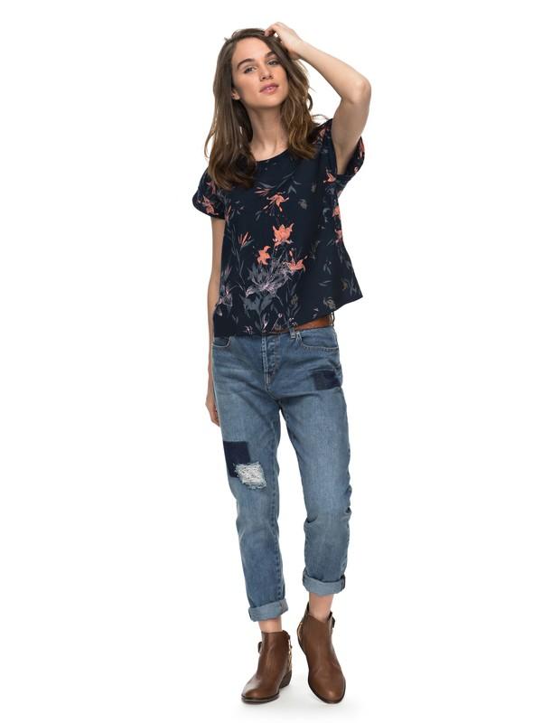 0 Beyond Sky - Boyfriend Fit Jeans for Women Blue ERJDP03165 Roxy
