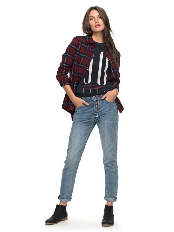 0 I Feel Free High Waisted Straight Fit Jeans  ERJDP03166 Roxy