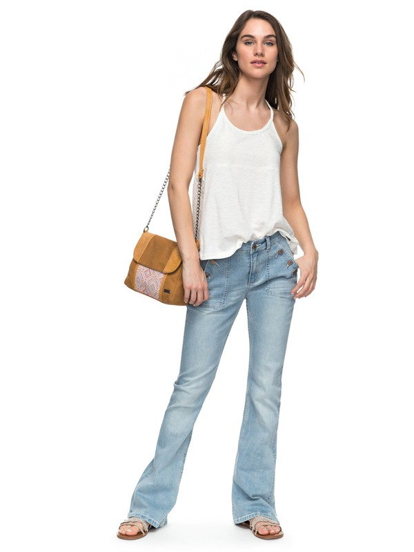 0 Look My High Waisted Flared Jeans  ERJDP03167 Roxy