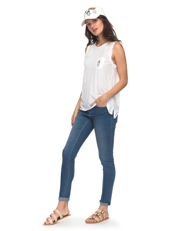 0 Dolphin Marin - Skinny Fit Jeans für Frauen Blau ERJDP03183 Roxy
