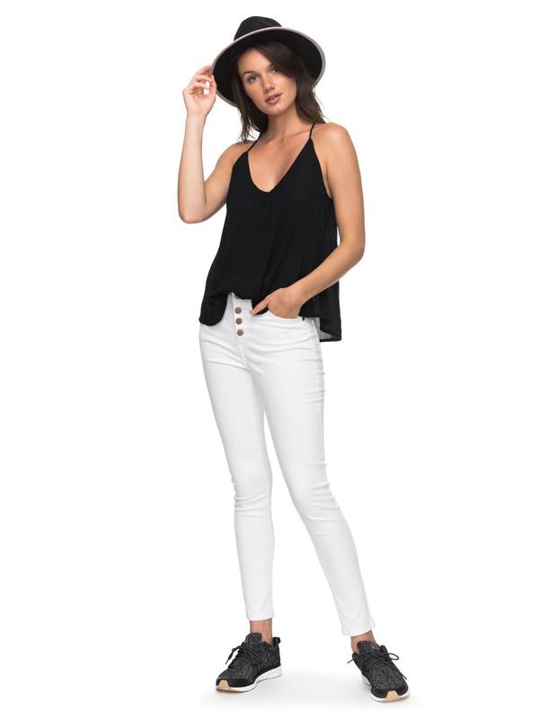 0 Long Island - Vaquero de Corte Ceñido para Mujer Blanco ERJDP03185 Roxy