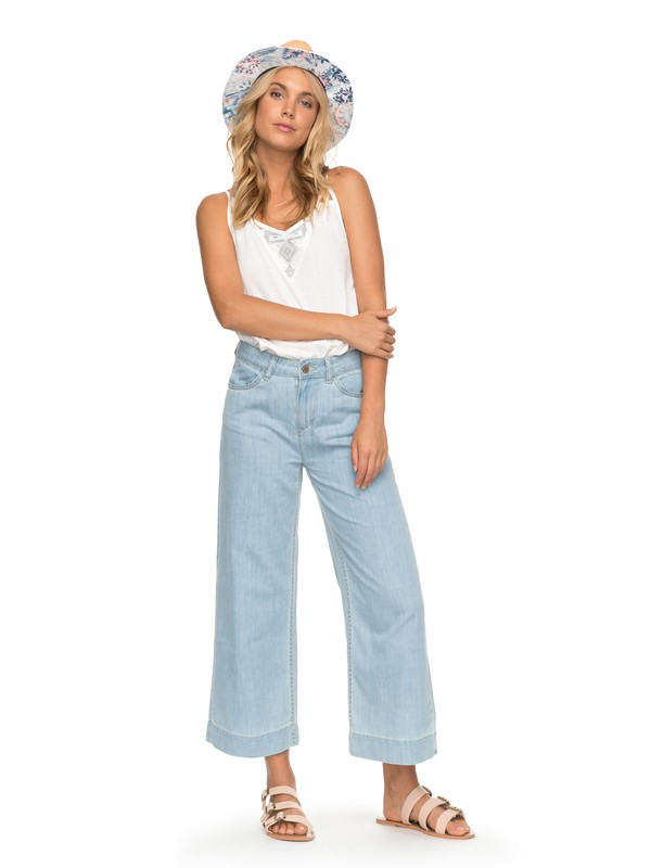 0 Janis  Wide Leg Denim Jeans Blue ERJDP03188 Roxy