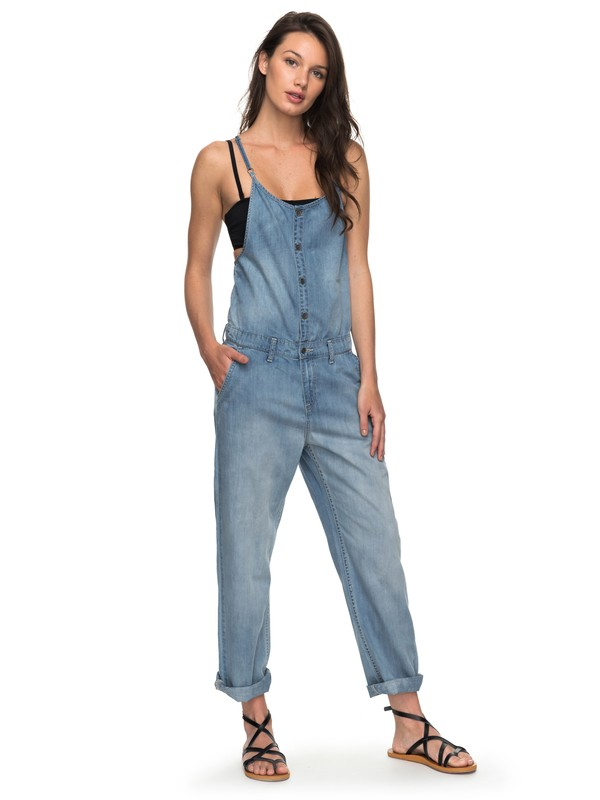 0 Cozy Denim Overalls Blue ERJDP03193 Roxy