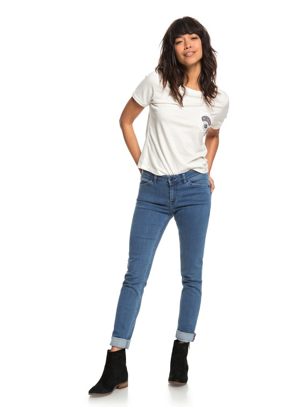 0 Crazy Maze - Skinny Fit Jeans Blue ERJDP03197 Roxy
