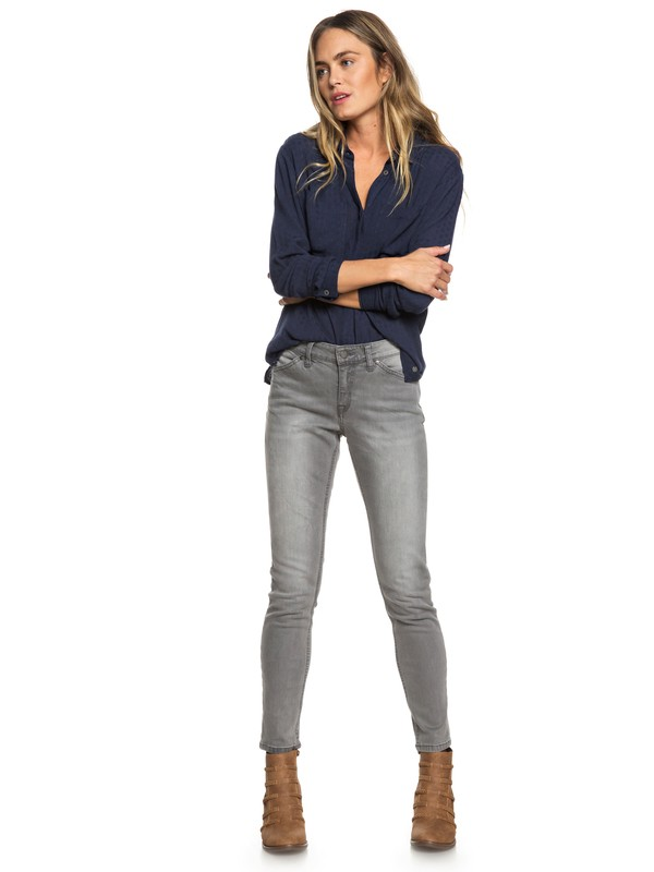 0 Seatripper Skinny Fit Jeans Grey ERJDP03200 Roxy