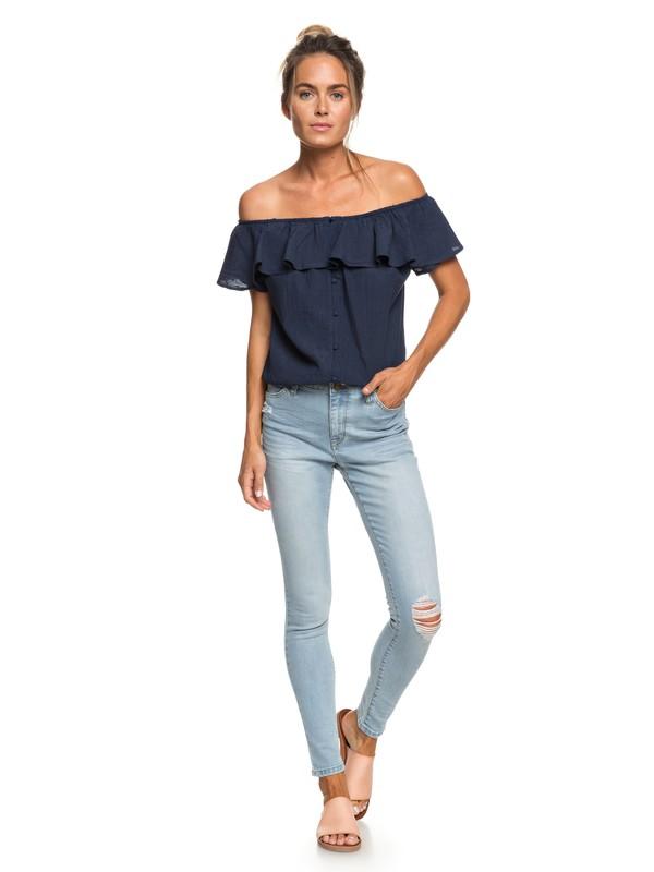 0 Bali Bird Skinny Fit Jeans Blue ERJDP03205 Roxy