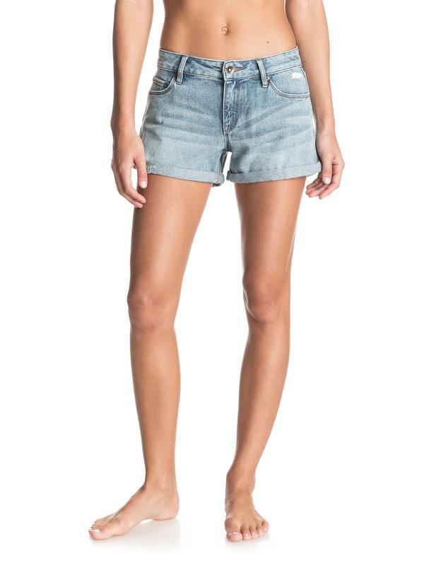 0 Midtown Vintage Med Blue Denim Shorts  ERJDS03028 Roxy