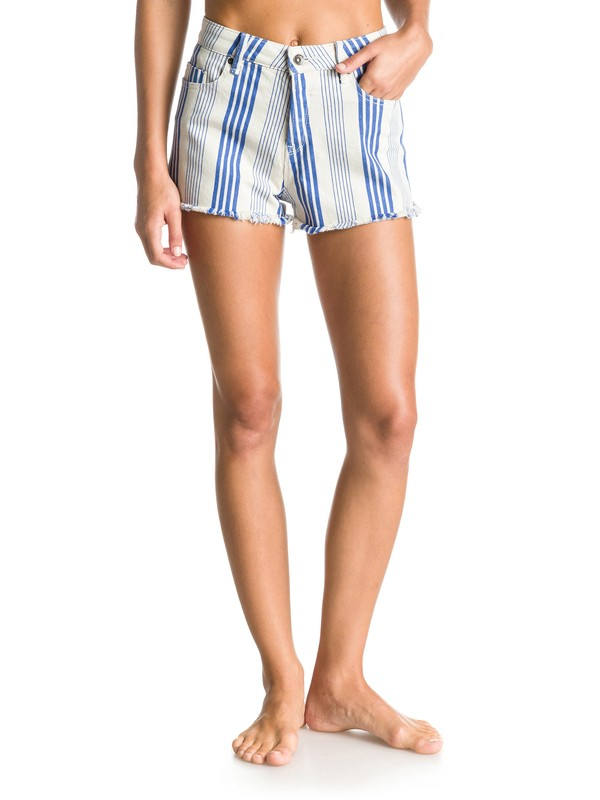 0 Stripy Eighty High-Waisted Printed Shorts  ERJDS03043 Roxy