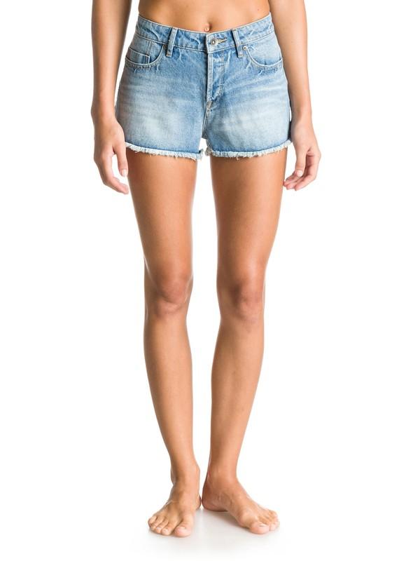0 Shorts de Mezclilla de Cintura Alta Stripy Eighty Wash  ERJDS03050 Roxy