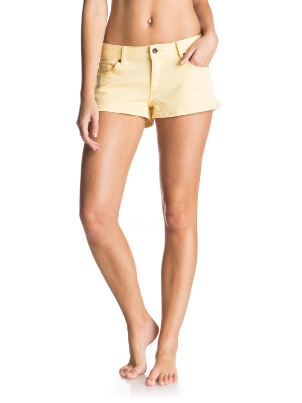 0 Forever Colors - Denim Shorts Yellow ERJDS03051 Roxy