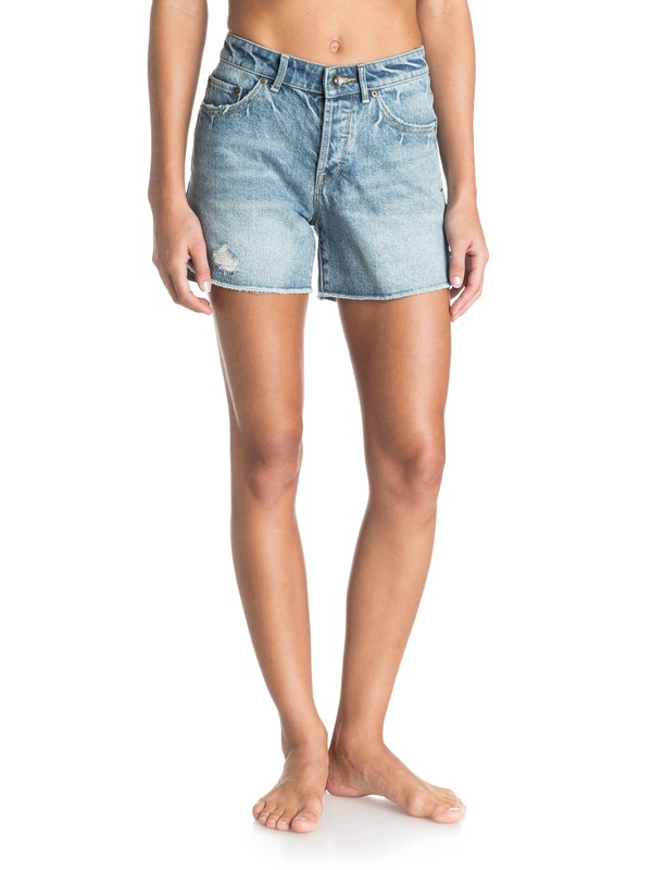 0 Surf Jam High Waisted Denim Shorts  ERJDS03054 Roxy