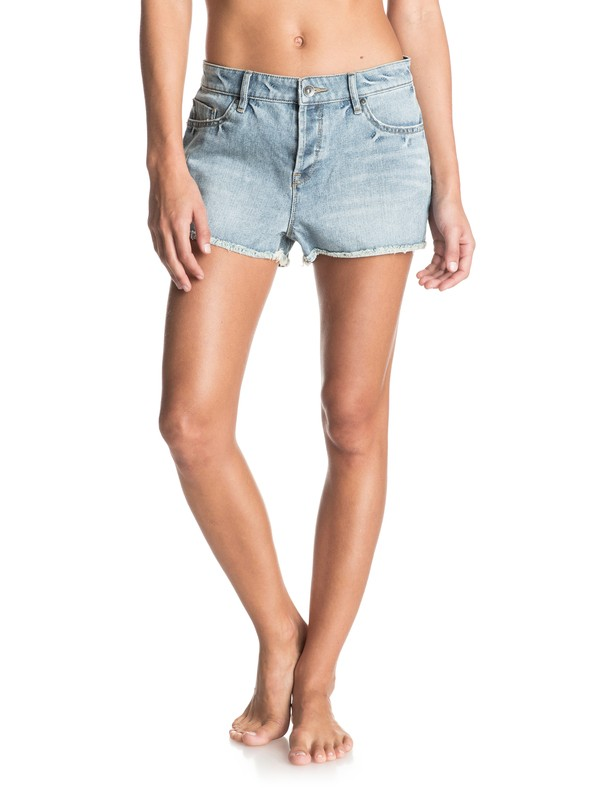 0 Stripy Eighty Wash  Denim Shorts  ERJDS03075 Roxy