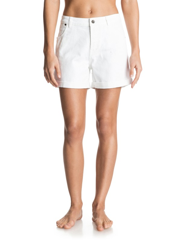 0 Seabury White Denim Shorts  ERJDS03087 Roxy