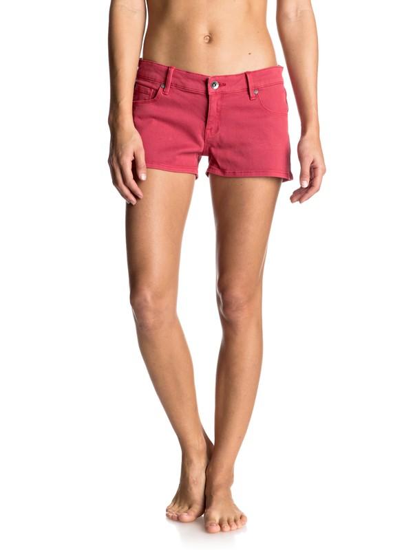 0 Andalousia - Pantalones Cortos Vaqueros Rojo ERJDS03114 Roxy