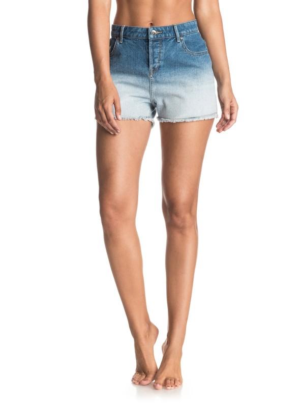 0 Shorts de Mezclilla de Teñido Profundo  Lovely  ERJDS03117 Roxy
