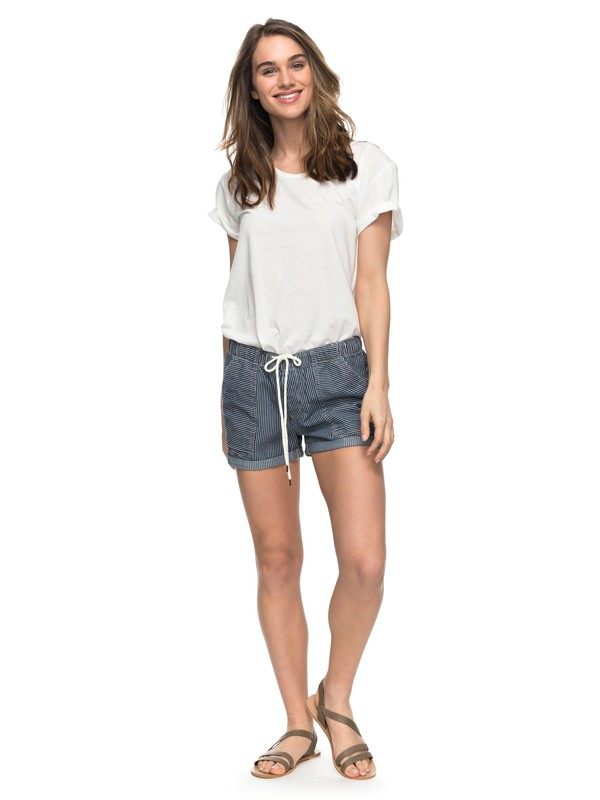 0 Dude Stripy Denim Shorts  ERJDS03142 Roxy