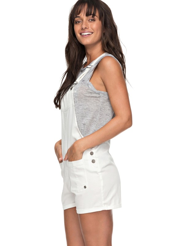 0 Back In Miami - Short Dungarees White ERJDS03162 Roxy