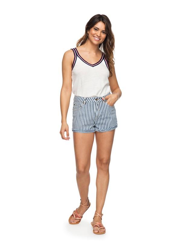 0 Holbrook High Waisted Denim Shorts Blue ERJDS03168 Roxy