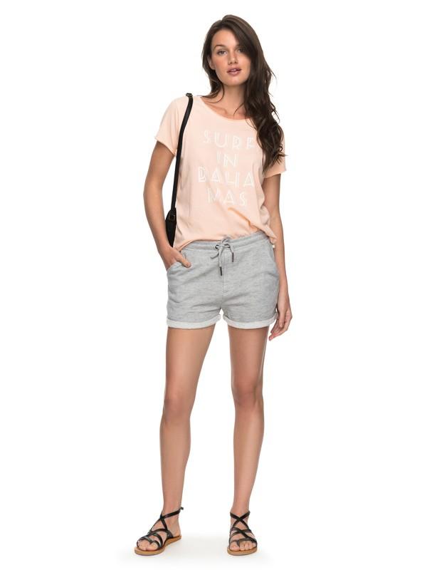0 Trippin Fleece Lounge Shorts Grey ERJFB03151 Roxy