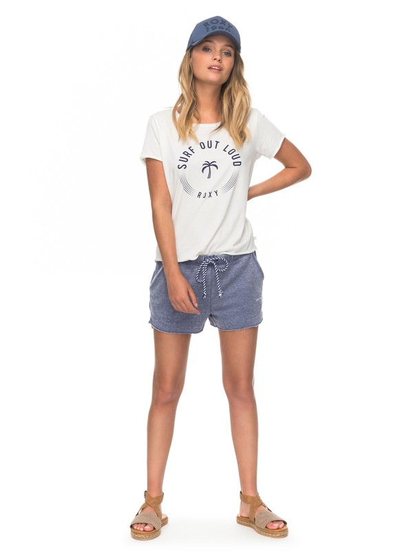 0 One Call Away Fleece Lounge Shorts Blue ERJFB03155 Roxy