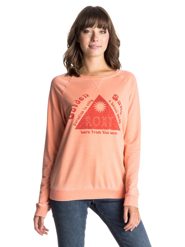 0 Ray Of Light Golden Sands Pulloever Sweatshirt  ERJFT03270 Roxy