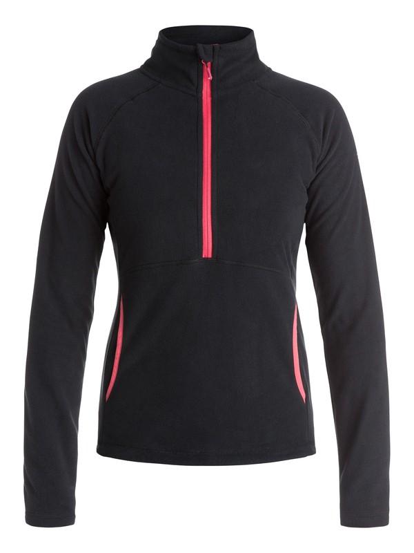 0 Cascade - Half-Zip Fleece Pullover Black ERJFT03310 Roxy