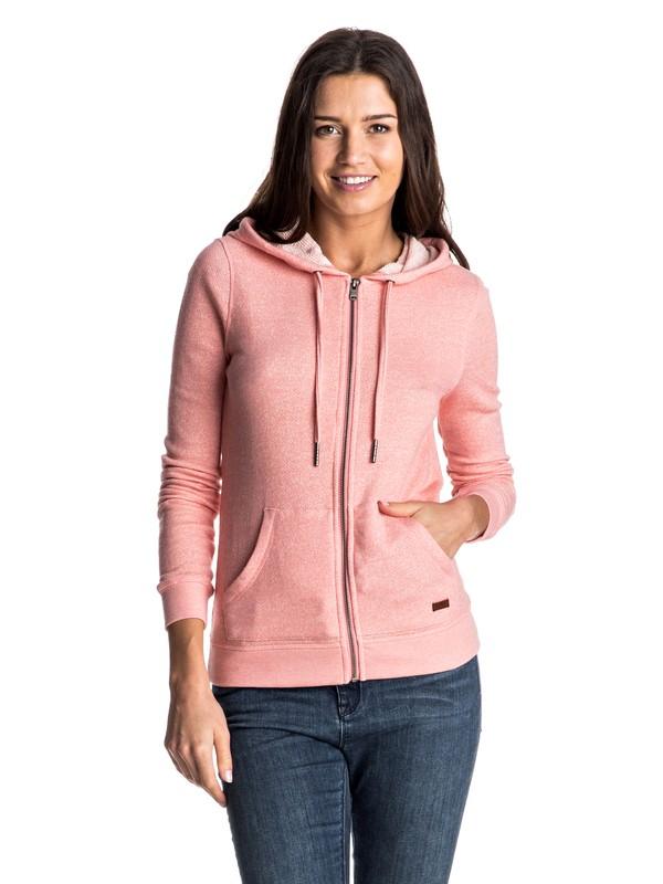 0 Женская худи на молнии Signature Розовый ERJFT03409 Roxy