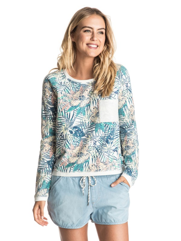 0 Whitewater Waves Pullover Sweatshirt  ERJFT03483 Roxy