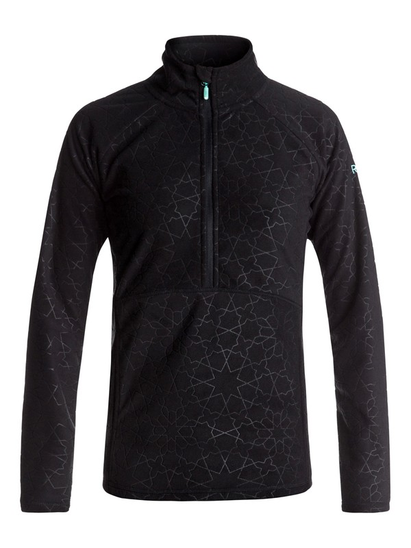 0 Cascade - Half-Zip Polar Fleece for Women Black ERJFT03562 Roxy