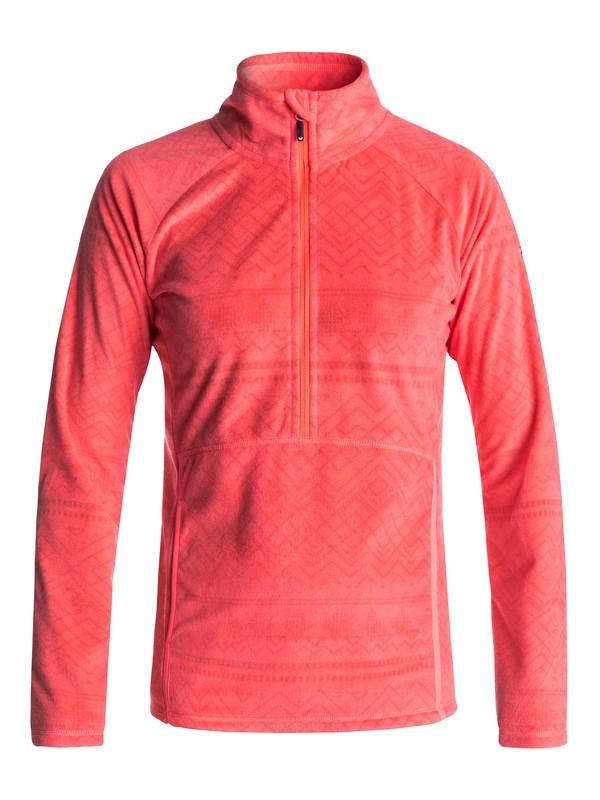 0 Флисовая толстовка на молнии Cascade Оранжевый ERJFT03562 Roxy